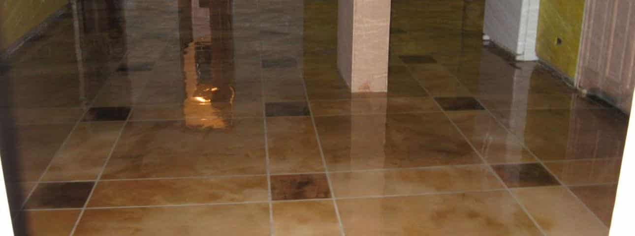 Thin concrete overlay material MicroTopping thin finish decorative concrete repair