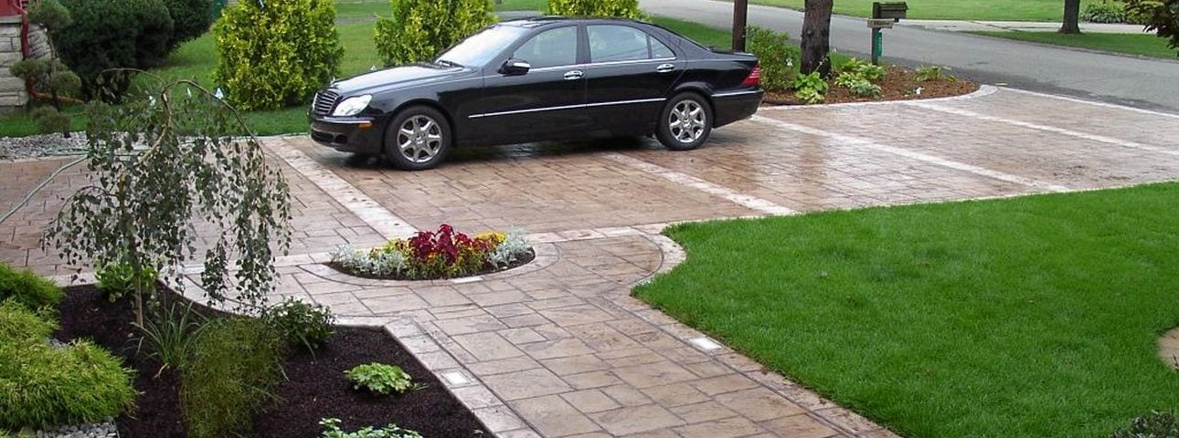 Stamped concrete texture overlay to make concrete look like stamped concrete
