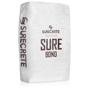 SureBond Acrylic Bonding Material Agent for SureStamp and Deep Level. Concrete bonding material in a just add water bag mix product.