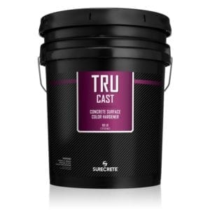 SureCrete TruCast Dry Shake Color Hardener for Colored Concrete Powder. Shake on color hardener for colored concrete. Dry powder color for concrete projects in Charlotte and Raleigh North Carolina