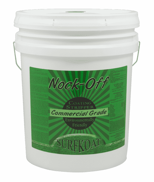 Nock Off Concrete Coatings Stripper. Safe concrete sealer remover. Concrete floor paint stripper. How to remove concrete coatings, how to remove concrete paint, and how to remove concrete sealer. Concrete preparation chemical product.