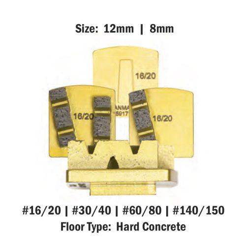 Scanmaskin 8 mm - 12mm Concrete Diamond Tool Gold Soft Bond Hard Concrete