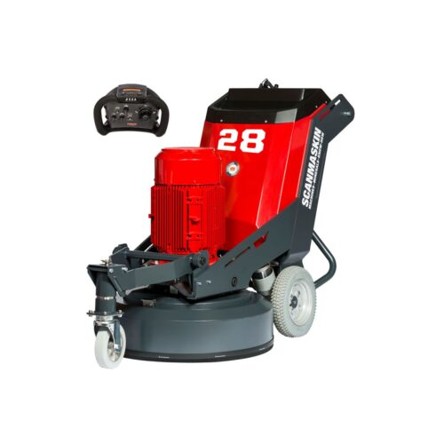 Scanmaskin 28 World Series Concrete Grinder Remote Control Turning Point Supply