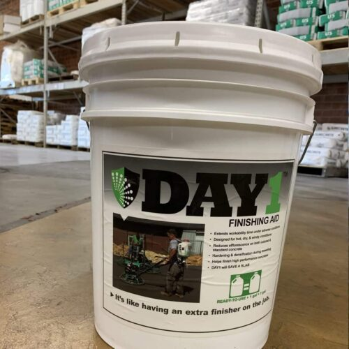 Ready to Use DAY 1 Troweling Finishing Aid - Extend Fresh Concrete Workable Time 5 Gallons North and South Carolina